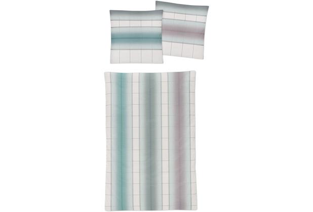 irisette Soft-Jersey Bettwäsche Set Luna 8285 silber 135x200 cm, 1 x Kissenbezug 80x80 cm
