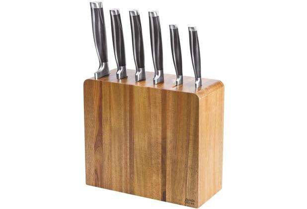 Jamie Oliver Messerblock mit Küchenmessern 6-teilig Akazienholz