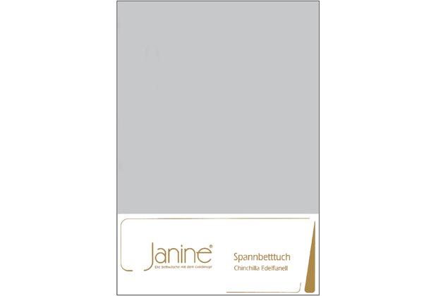 Janine Betttücher CHINCHILLA silber Spannbetttuch 100 x 200