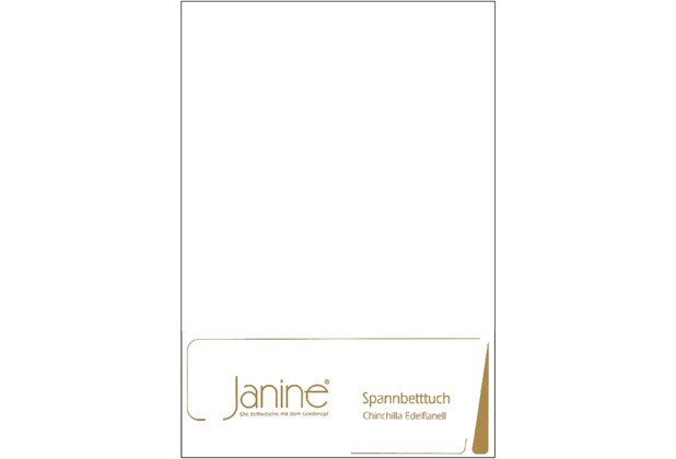 Janine Betttücher CHINCHILLA weiß Spannbetttuch 100 x 200