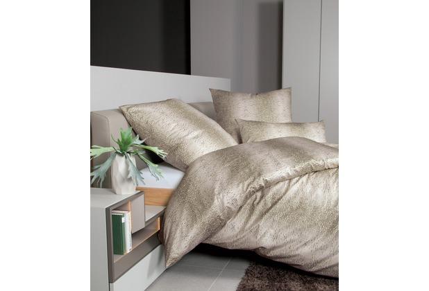 Janine Bettwäsche-Garnitur Interlock-Jersey blasses khaki 135x200, 80x80