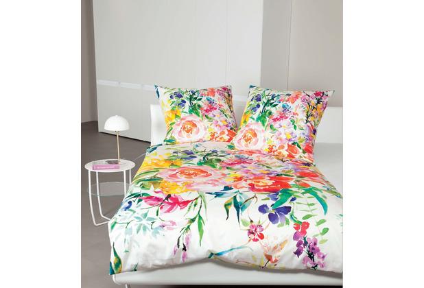 Janine Bettwäsche-Garnitur modern art Mako-Satin rosé multicolor 135x200, 80x80