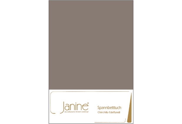 Janine Bettwäsche CHINCHILLA Chinchilla-Edelflanell, 100% Baumwolle taupe 7000-57 200x200