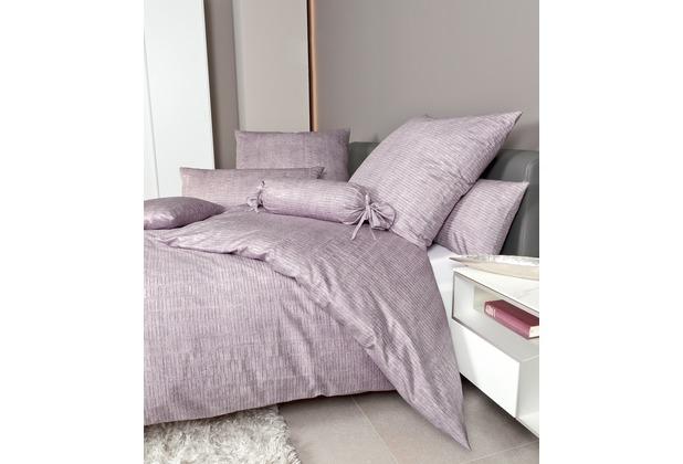 Janine Bettwäsche Mako-Satin Messina gedämpftes violett Bettwäsche 135X200, Kissenbezug 80x80