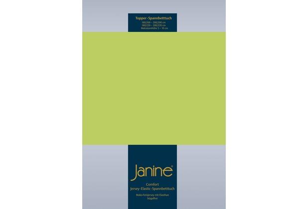 Janine Comfort-Jersey-Spannbettuch Elastic apfelgrün Topper Spannbettlaken 200x200