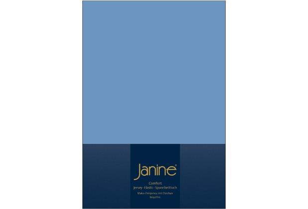Janine Comfort-Jersey-Spannbettuch Elastic blau Spannbettlaken  200x200