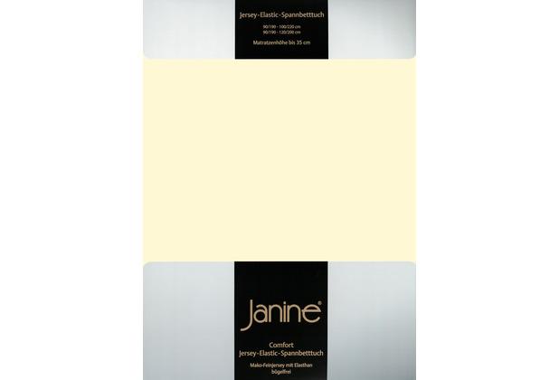 Janine Comfort-Jersey-Spannbettuch Elastic champagner Spannbettlaken 200x200