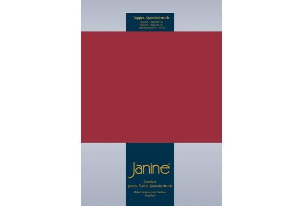 Janine Comfort-Jersey-Spannbettuch Elastic granat Topper Spannbettlaken 200x200