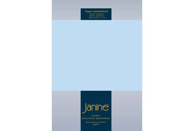Janine Comfort-Jersey-Spannbettuch Elastic hellblau Topper Spannbettlaken 200x200