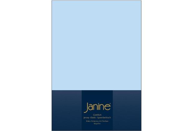 Janine Comfort-Jersey-Spannbettuch Elastic hellblau Spannbettlaken  200x200