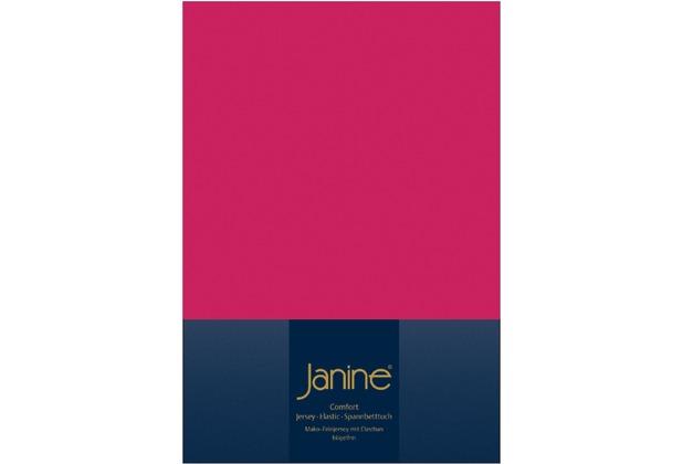 Janine Comfort-Jersey-Spannbettuch Elastic himbeer Spannbettlaken  200x200