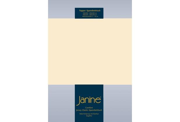Janine Comfort-Jersey-Spannbettuch Elastic leinen Topper Spannbettlaken 200x200