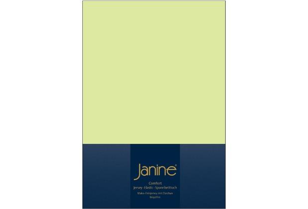 Janine Comfort-Jersey-Spannbettuch Elastic lilie Spannbettlaken  200x200