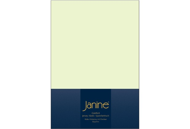 Janine Comfort-Jersey-Spannbettuch Elastic limone Spannbettlaken 200x200