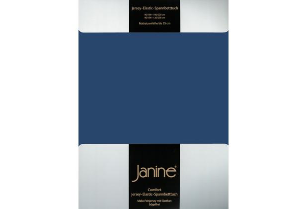 Janine Comfort-Jersey-Spannbettuch Elastic marine Spannbettlaken 200x200
