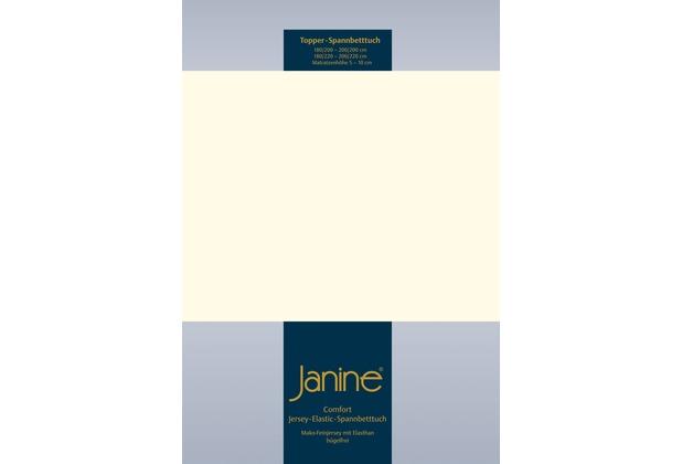 Janine Comfort-Jersey-Spannbettuch Elastic natur Topper Spannbettlaken 200x200