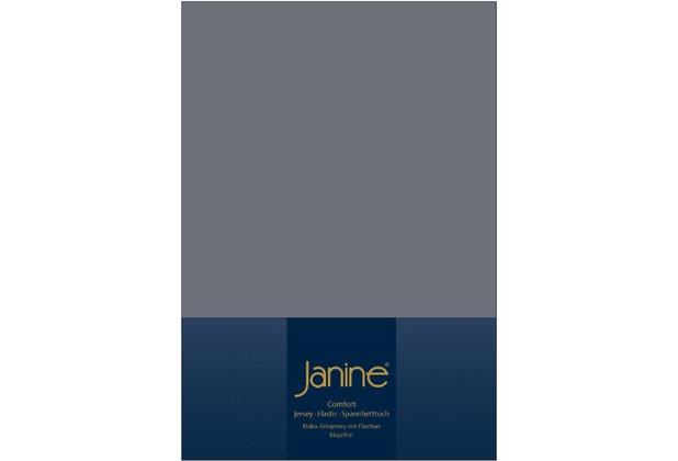 Janine Comfort-Jersey-Spannbettuch Elastic opalgrau Spannbettlaken  200x200