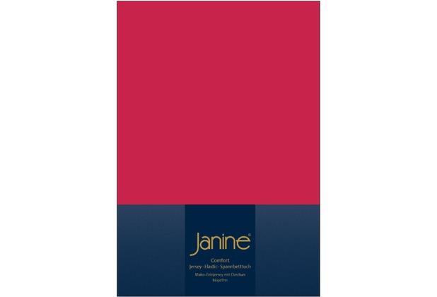 Janine Comfort-Jersey-Spannbettuch Elastic rot Spannbettlaken  200x200