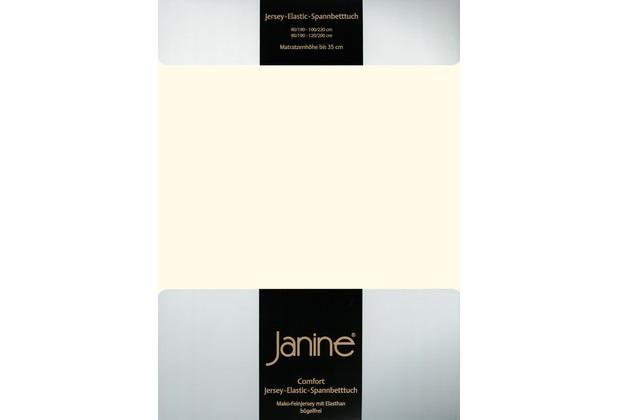 Janine Comfort-Jersey-Spannbettuch Elastic schwarz Spannbettlaken 200x200