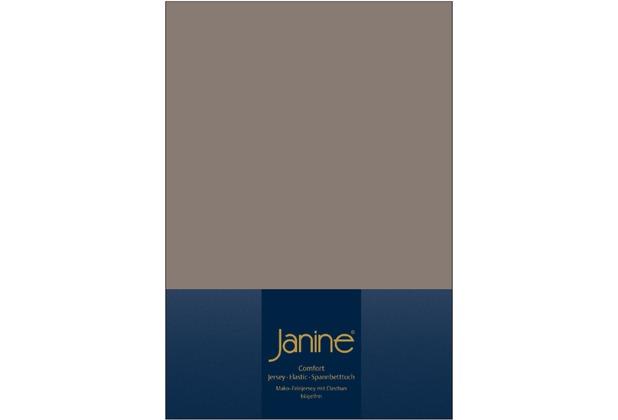 Janine Comfort-Jersey-Spannbettuch Elastic taupe Spannbettlaken  200x200