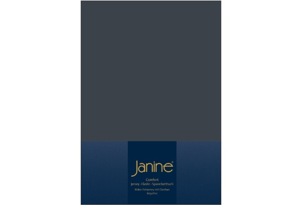 Janine Comfort-Jersey-Spannbettuch Elastic titan Spannbettlaken  200x200