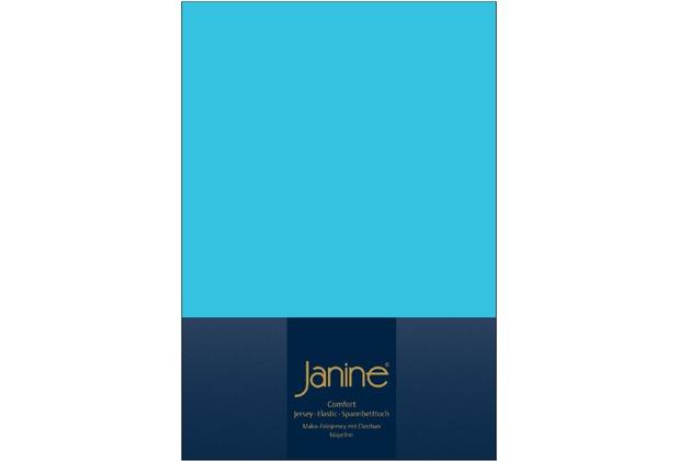 Janine Comfort-Jersey-Spannbettuch Elastic türkis Spannbettlaken  200x200