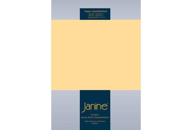Janine Comfort-Jersey-Spannbettuch Elastic vanille Topper Spannbettlaken 200x200