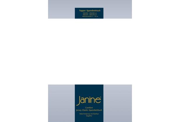 Janine Comfort-Jersey-Spannbettuch Elastic weiß Topper Spannbettlaken 200x200