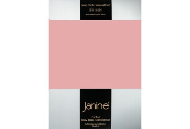 Janine Comfort-Jersey-Spannbettuch Elastic zartmauve Spannbettlaken 200x200