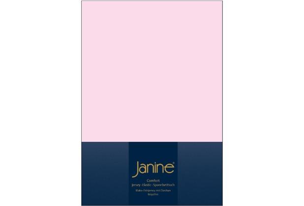 Janine Comfort-Jersey-Spannbettuch Elastic zartrosa Spannbettlaken 200x200