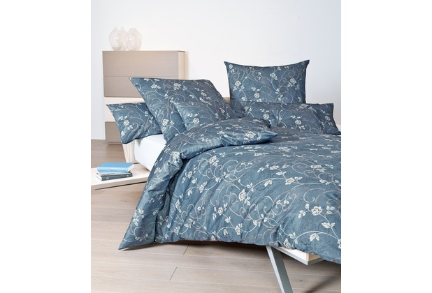 Janine Interlock-Jersey Carmen mondlichtblau Bettbezug 135x200, 80x80