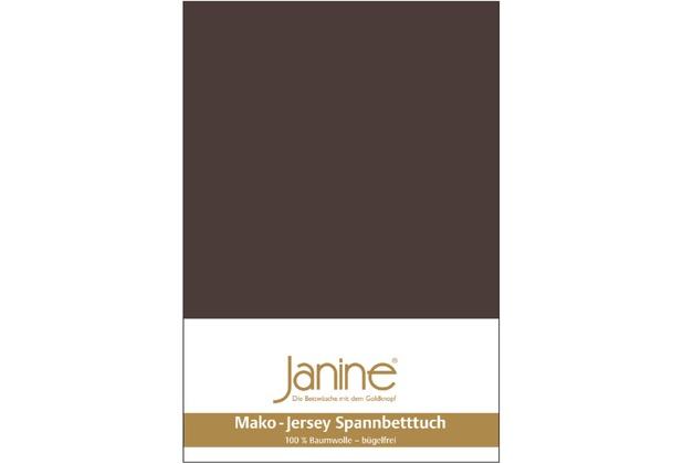 Janine Jersey-Spannbetttuch Jersey dunkelbraun Spannbettlaken 200x200