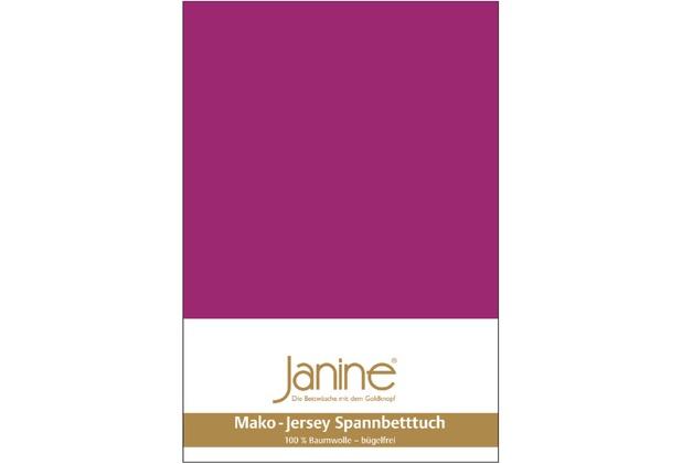 Janine Jersey-Spannbetttuch Jersey fuchsia Spannbettlaken 200x200
