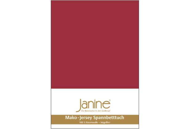 Janine Jersey-Spannbetttuch Jersey granat Kissenbezug 40x40