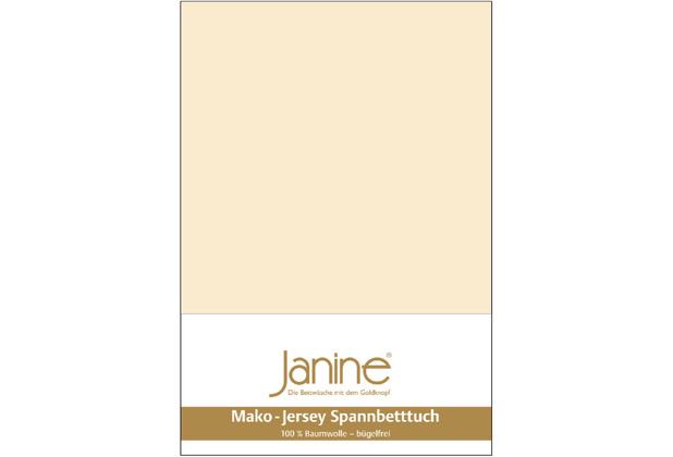 Janine Jersey-Spannbetttuch Jersey leinen Kissenbezug 40x40