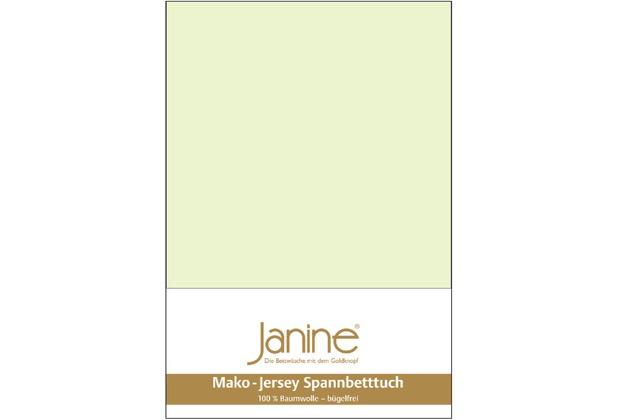 Janine Jersey-Spannbetttuch Jersey limone Spannbettlaken 200x200