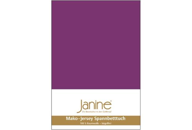 Janine Jersey-Spannbetttuch Jersey malve Spannbettlaken 200x200