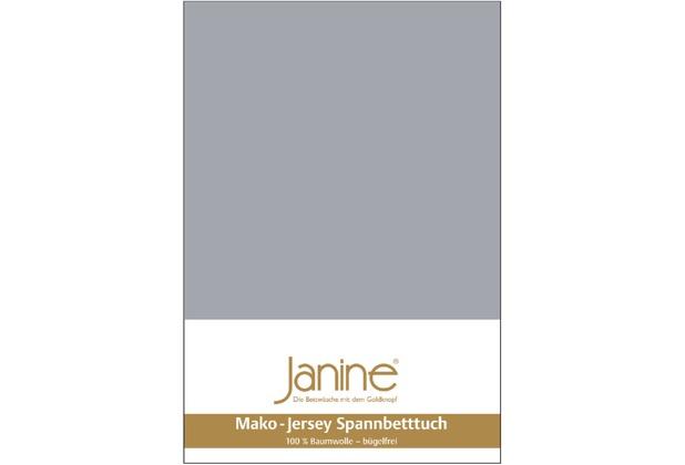 Janine Jersey-Spannbetttuch Jersey platin Spannbettlaken 200x200