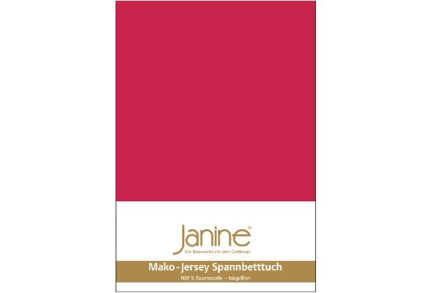 Janine Jersey-Spannbetttuch Jersey rot Spannbettlaken 200x200