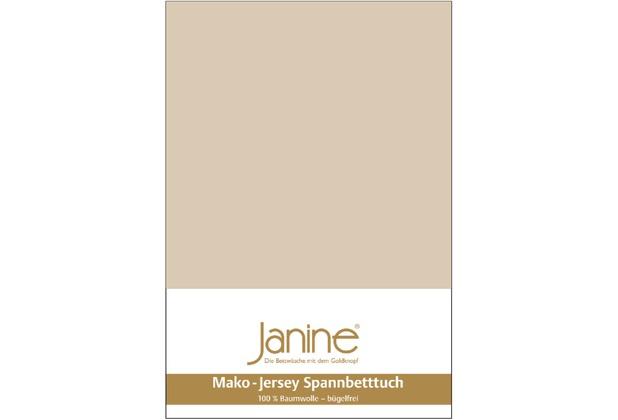 Janine Jersey-Spannbetttuch Jersey sand Spannbettlaken 200x200
