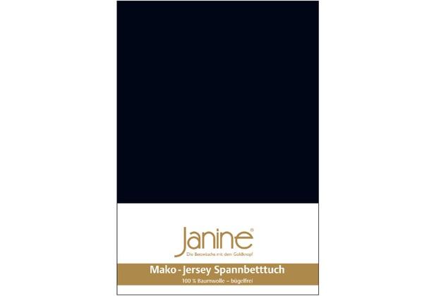 Janine Jersey-Spannbetttuch Jersey schwarz Spannbettlaken 200x200
