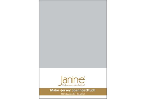 Janine Jersey-Spannbetttuch Jersey silber Spannbettlaken 200x200