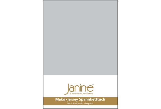 Janine Jersey-Spannbetttuch Jersey silber Kissenbezug 40x40