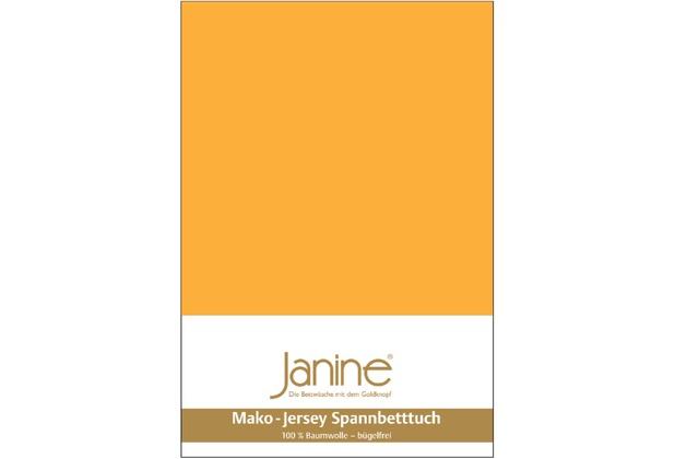 Janine Jersey-Spannbetttuch Jersey sonnengelb Spannbettlaken 200x200