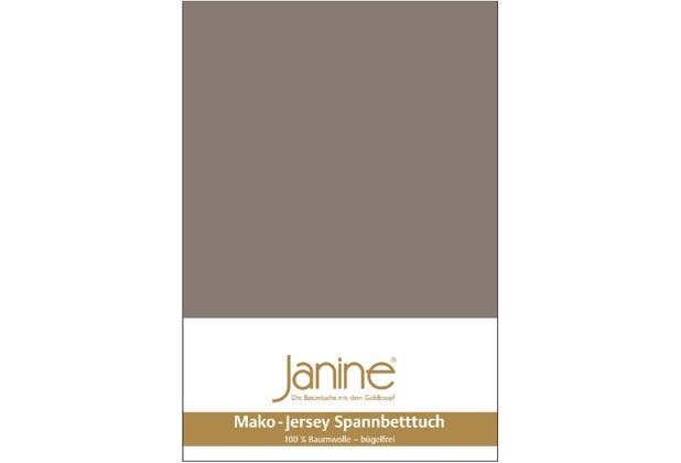 Janine Jersey-Spannbetttuch Jersey taupe Spannbettlaken 200x200