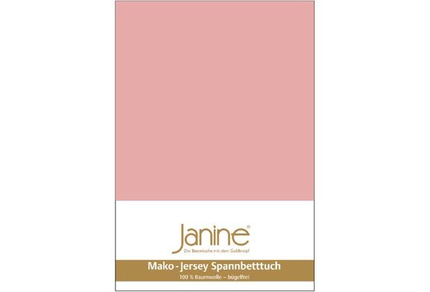 Janine Jersey-Spannbetttuch Jersey zartmauve Spannbettlaken 200x200