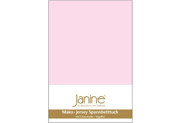 Janine Jersey-Spannbetttuch Jersey zartrosa Spannbettlaken 200x200