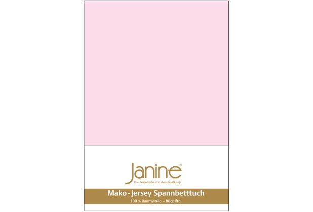 Janine Jersey-Spannbetttuch Jersey zartrosa Kissenbezug 40x40