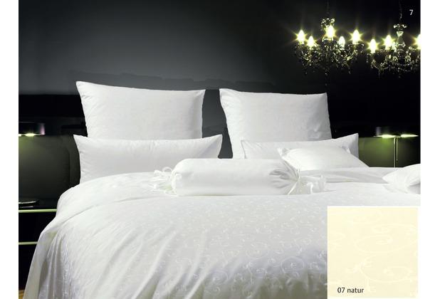 Janine Mako-Brokat-Damast Rubin natur 1321-07 Bettbezug 135x200 cm