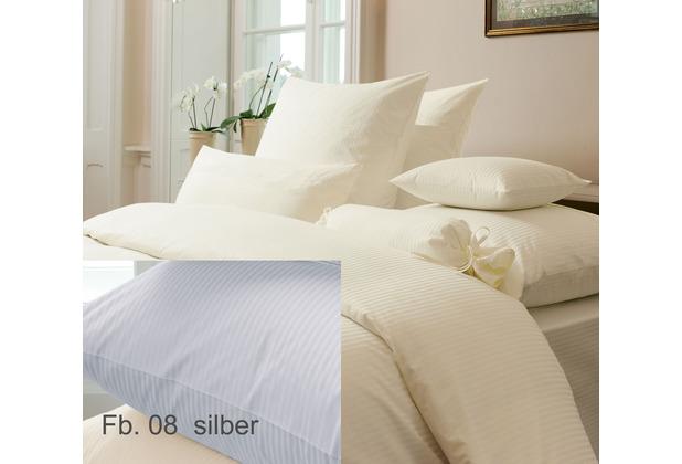 Janine Mako-Brokat-Damast Rubin silber 1319-08-155-X Bettbezug 135x200 cm